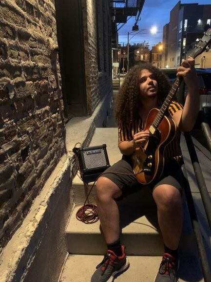 Jamming with the Micro Cube GX on the street