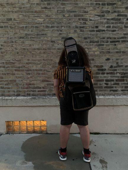 Micro Cube GX on a gig bag