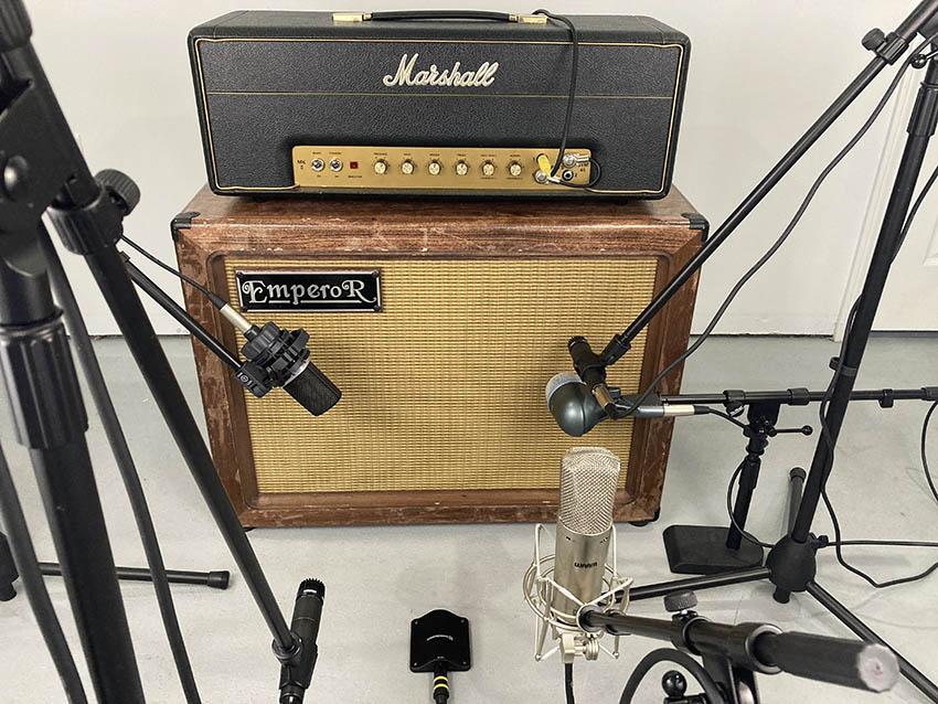 Guitar cabinet miking techniques
